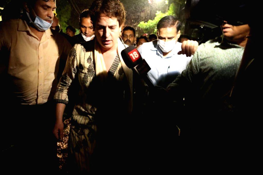 Priyanka Gandhi leaves for Lakhimpur Kheri . - Priyanka Gandhi