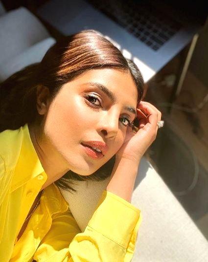 Priyanka's work selfies make Nick mushy.