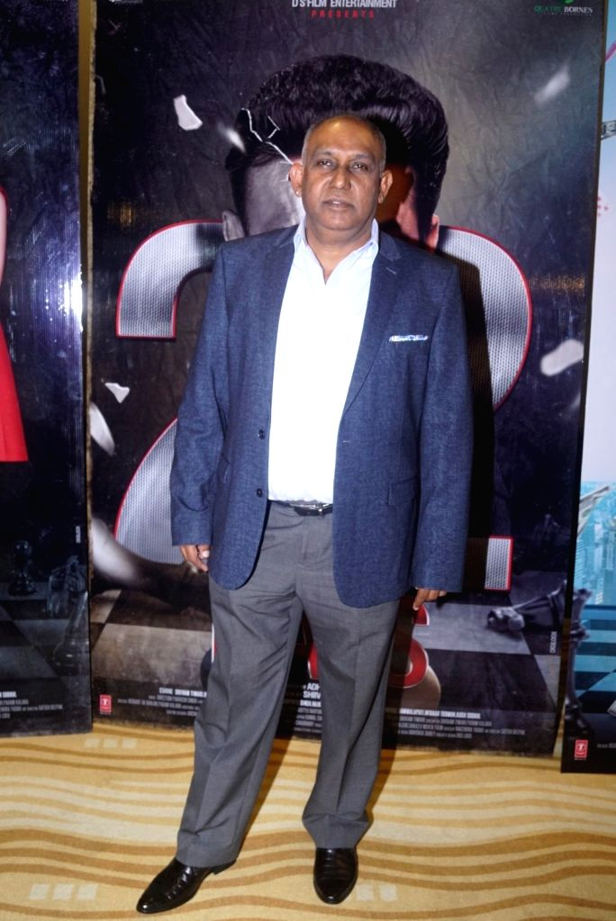 """Producer Adhir Gunness at the trailer launch of upcoming film """"22 Days"""" in Mumbai, on July 24, 2018."""