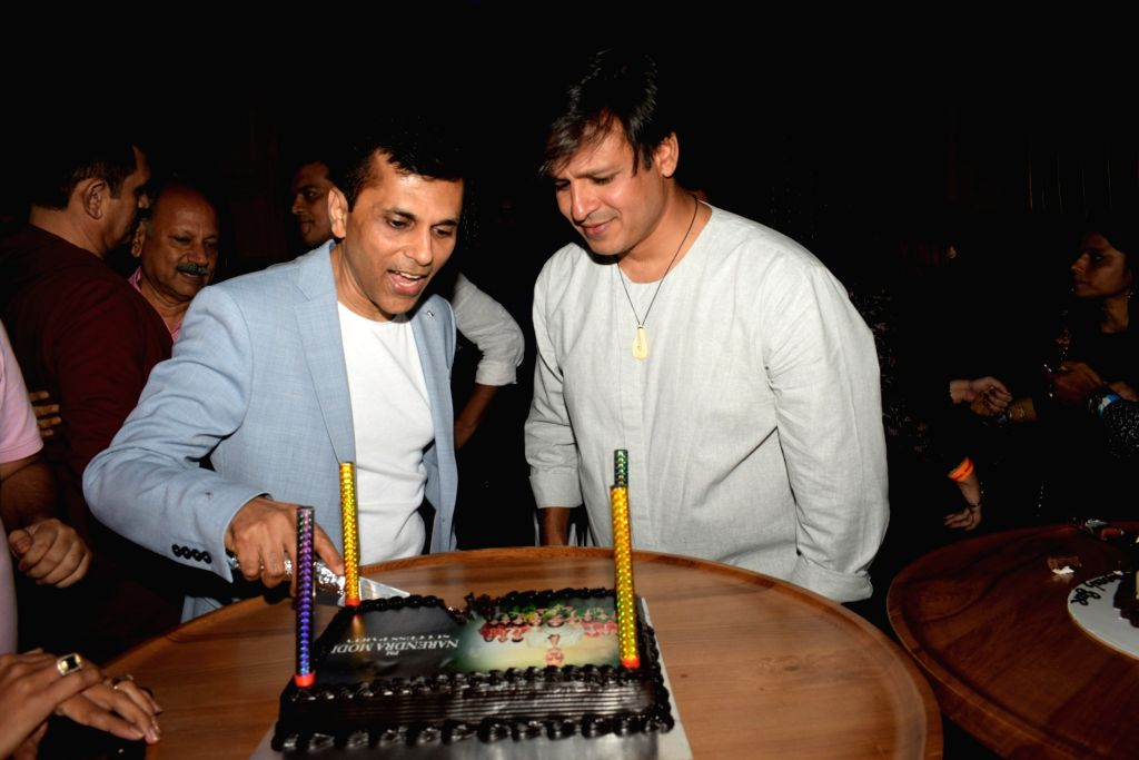 """Producer Anand Pandit and actor Vivek Oberoi at the success party of their recently released film """"PM Narendra Modi"""", in Mumbai, on June 13, 2019. - Vivek Oberoi and Narendra Modi"""