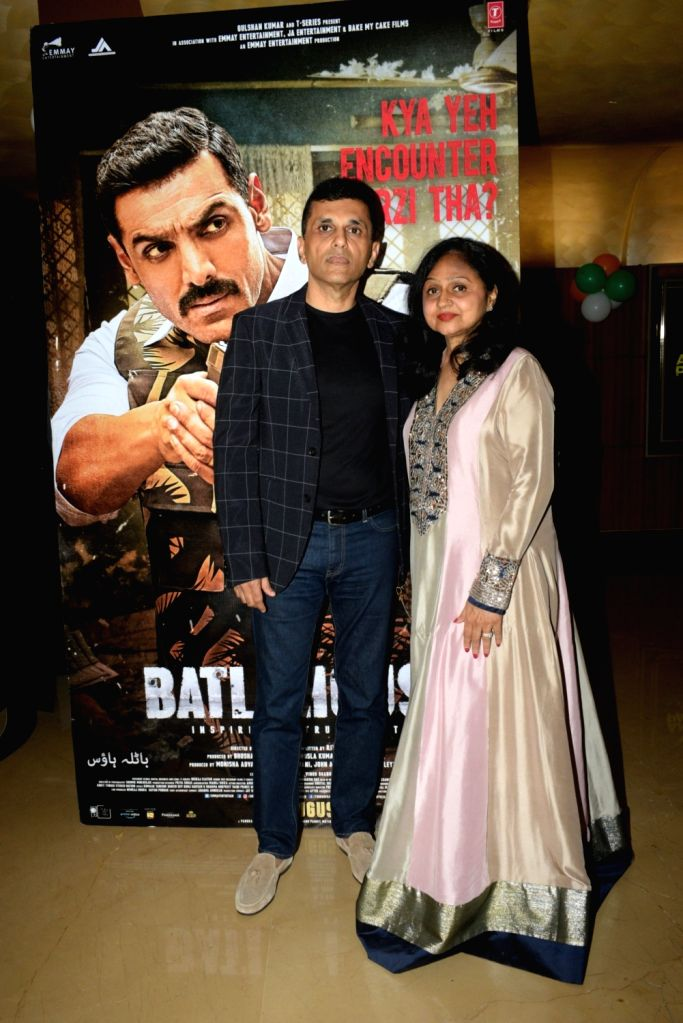 """Producer Anant Pandit at the screening of the film """"Batla House"""" hosted by him at PVR Juhu, in Mumbai on Aug 15, 2019."""
