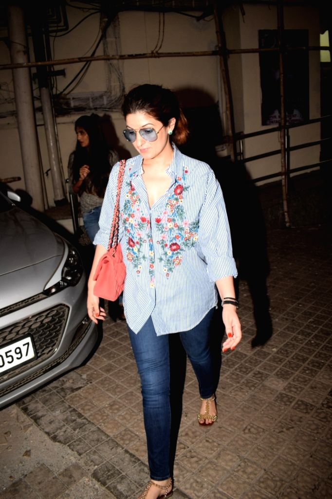 Producer-author and entrepreneur Twinkle Khanna  seen at cinema theater in Mumbai's Juhu on May 20, 2018. - Khanna