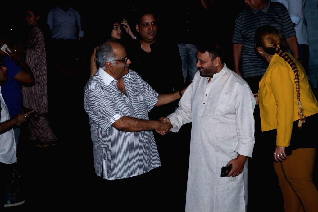 "Producer Boney Kapoor and director Anil Kapoor at the special screening of film ""Mulk"" in Mumbai on Aug 2, 2018. - Anil Kapoor and Boney Kapoor"