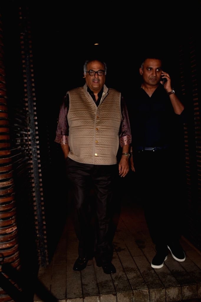Producer Boney Kapoor at Estella Lounge in Mumbai on Oct 10, 2017. - Boney Kapoor