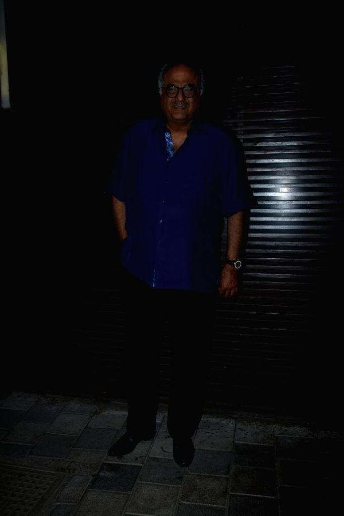 "Producer Boney Kapoor at the success party of film ""Badhaai Ho"" in Mumbai on Oct 30, 2018. - Boney Kapoor"