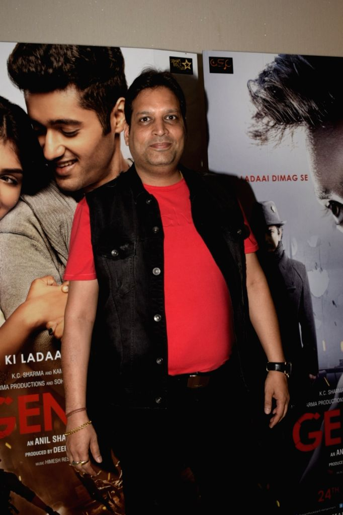 "Producer Deepak Mukut at the trailer launch of upcoming film ""Genius"" in Mumbai, on July 24, 2018."