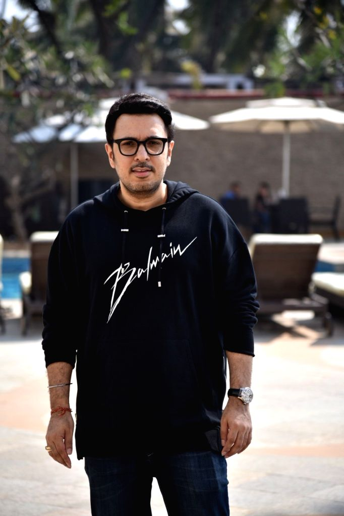 """Producer Dinesh Vijan during a programme organsied to promote his upcoming film """"Luka Chuppi"""" in Mumbai on Feb 20, 2019."""
