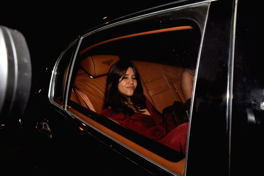Producer Ekta Kapoor at the filmmaker Karan Johar's valentine party in Mumbai on Feb 14, 2018. - Ekta Kapoor
