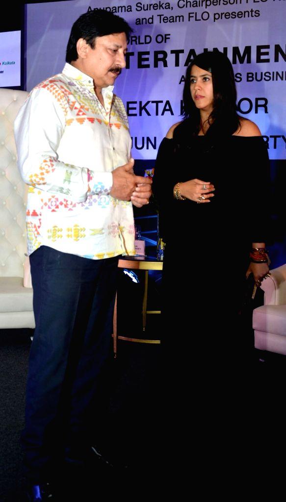 Producer Ekta Kapoor during an interactive session organised by FICCI Ladies Organization (FLO) in Kolkata on Sept 8, 2016. - Ekta Kapoor