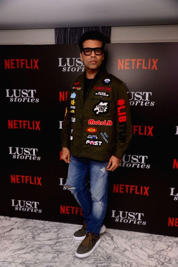 "Producer Karan Johar at the special screening of Netflix show titled ""Lust Stories"" in Mumbai on June 13, 2018. - Karan Johar"