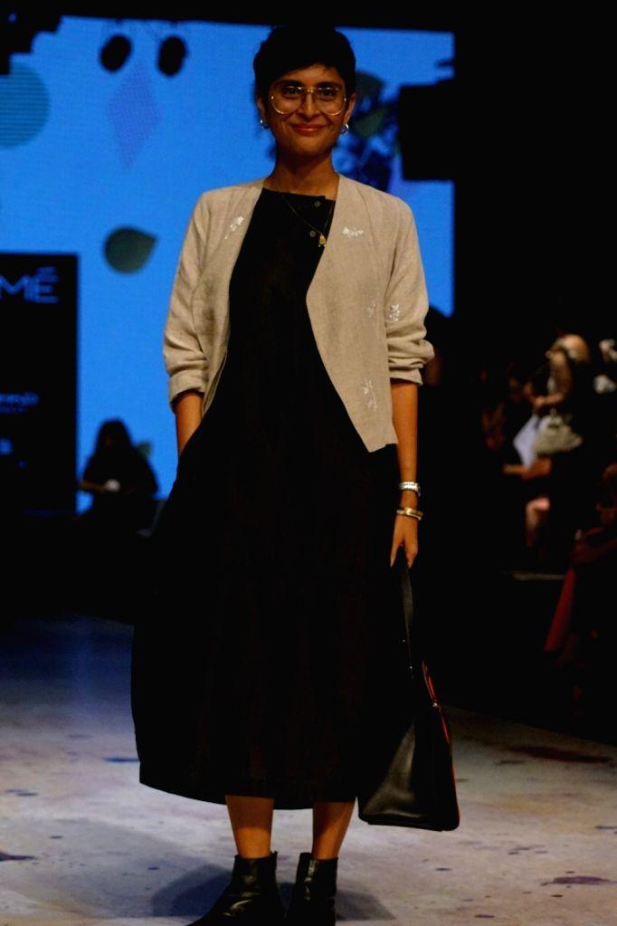 Producer Kiran Rao during the Lakme Fashion Week Winter/Festive 2017 in Mumbai on Aug 18, 2017. - Kiran Rao