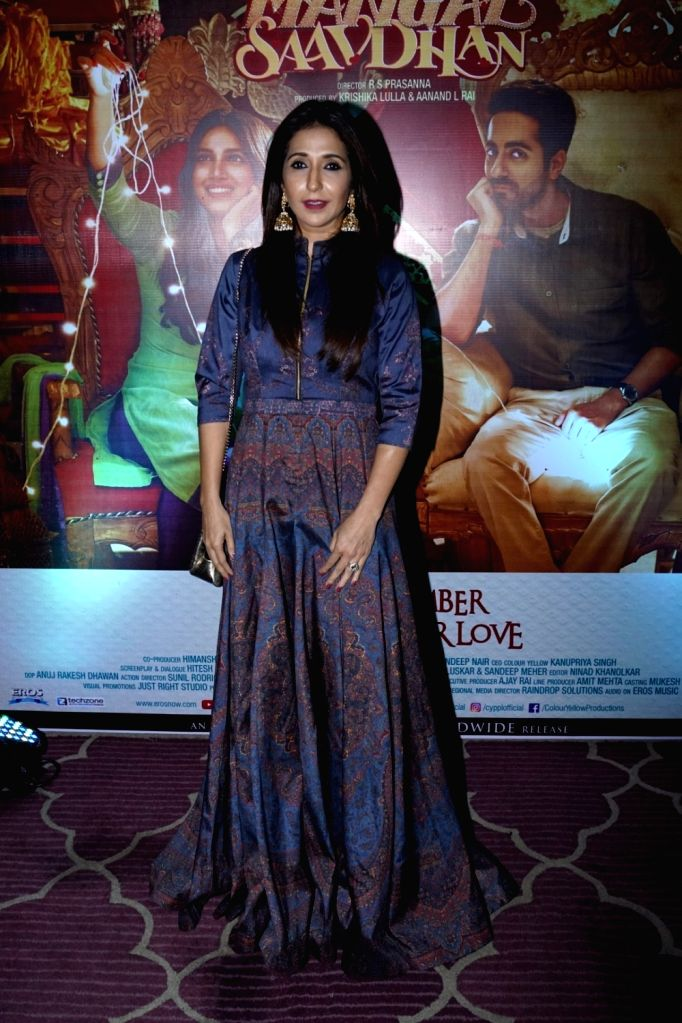 "Producer Krishika Lulla during the success party of film ""Shubh Mangal Savdhan"" in Mumbai on Sept 12, 2017."