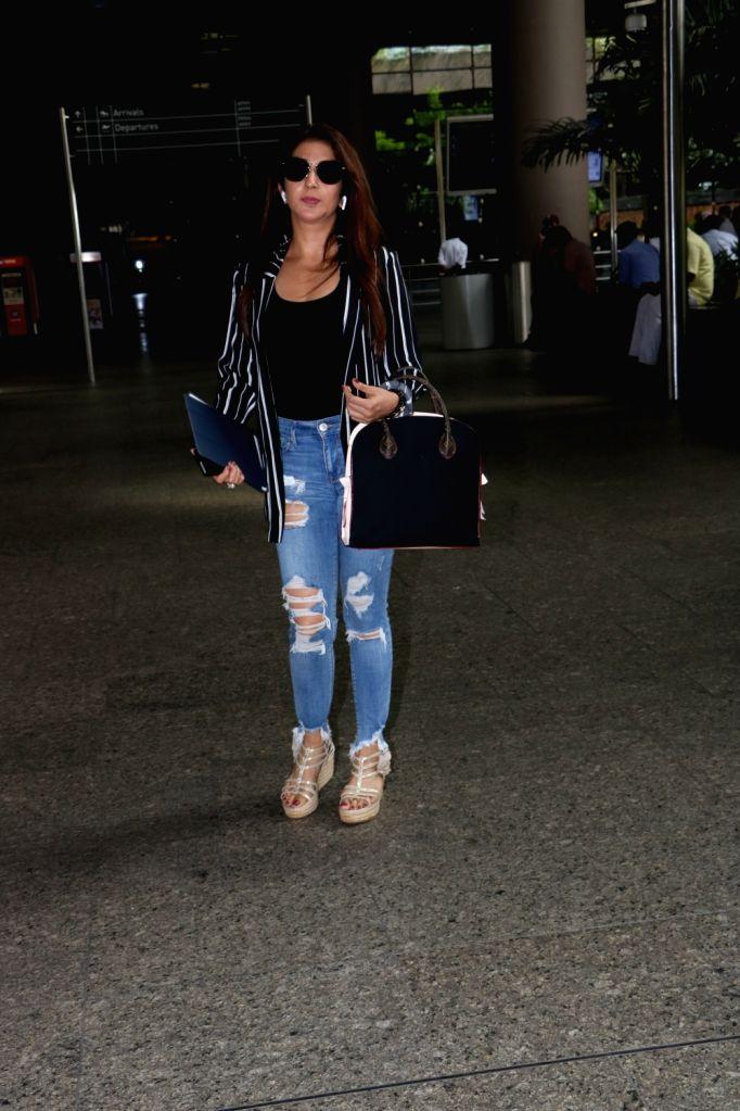 Producer Krishika Lulla spotted at Chhatrapati Shivaji Maharaj International airport in Mumbai.