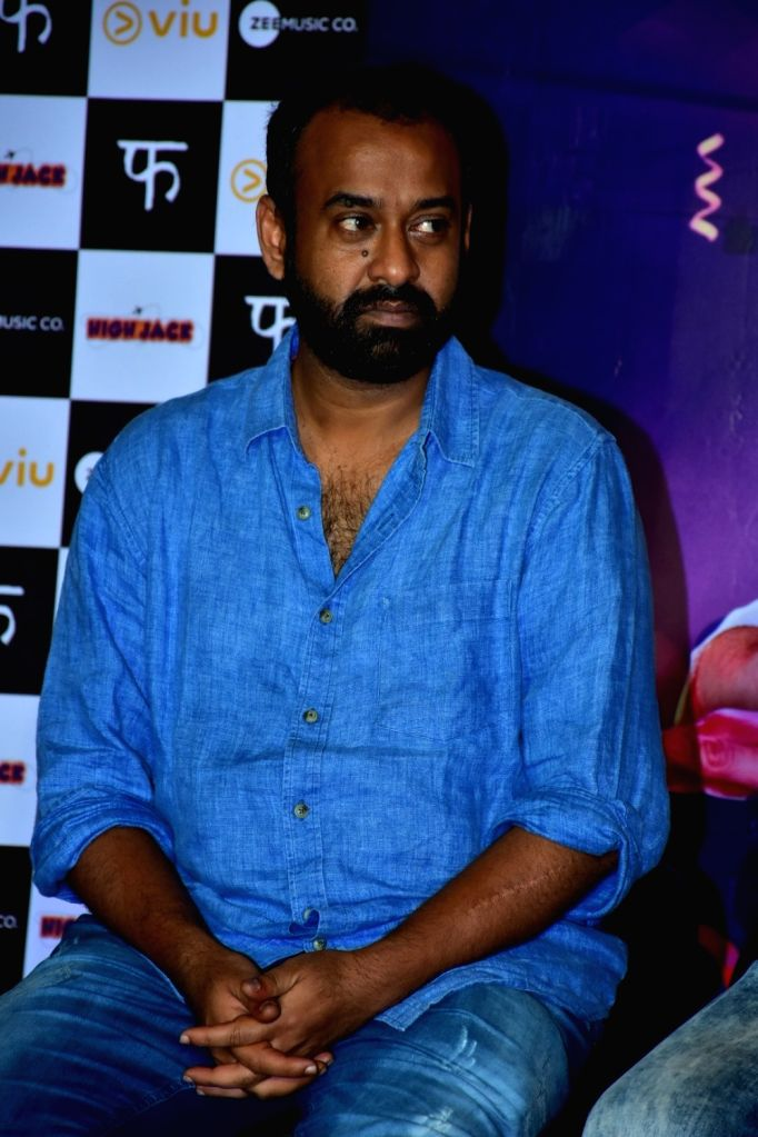 """Producer Madhu Mantena during the trailer launch of his upcoming film """"High Jack"""", in Mumbai on March 27, 2018."""