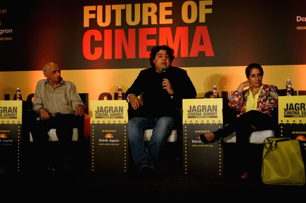 "Producer Mukesh Bhatt and Director Sajid Khan during the ""Jagran Cinema Host Summit"" to Discuss Future of Film in Mumbai on Sept 15, 2017. - Sajid Khan"