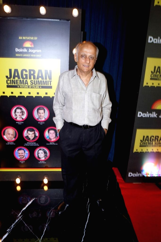 "Producer Mukesh Bhatt during the ""Jagran Cinema Host Summit"" to Discuss Future of Film in Mumbai on Sept 15, 2017."