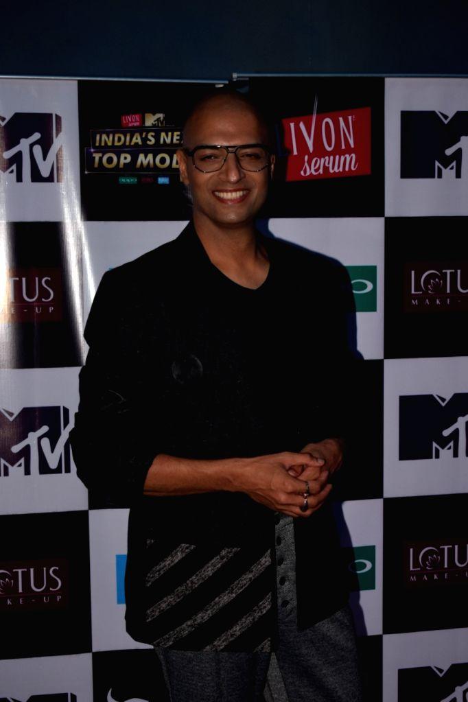 "Producer Neeraj Gaba on the set of ""India's Next Top Model"" Season 3  in Mumbai on Oct 10, 2017."