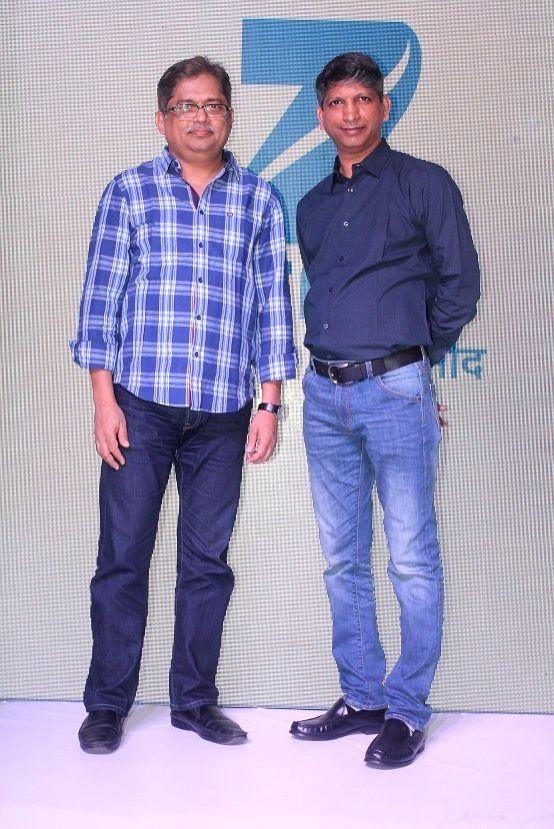 Producer Nitin Vaidya and Deputy Business Head, Zee TV, Mr Deepak Rajadhyaksha during the launch of Zee Tv new show 'Dil Dhoondta Hai' in Mumbai on Sept 15, 2017.