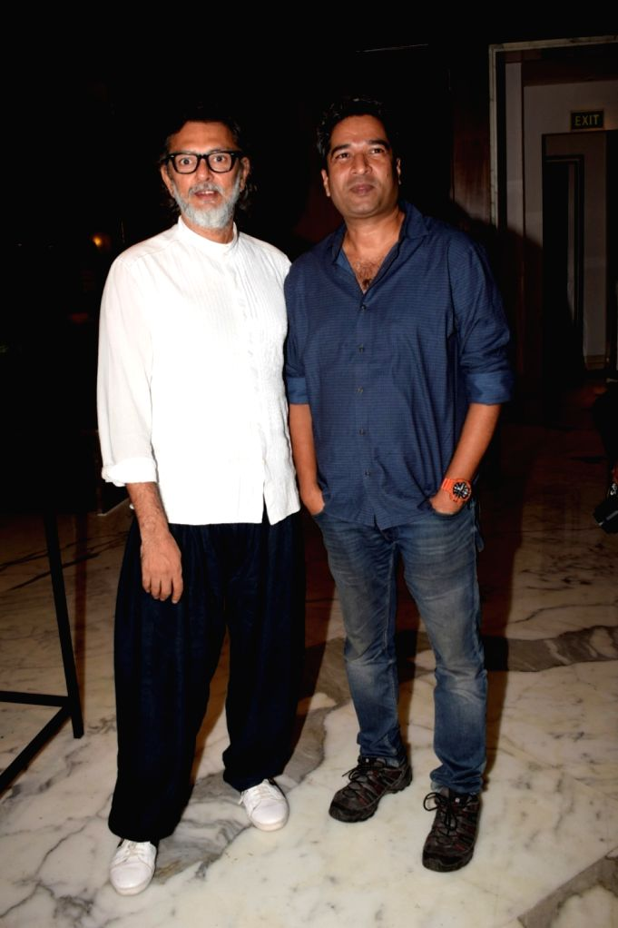 """Producer Rakesh Omprakash Mehra and director Atul Manjrekar during a media interaction to promote their upcoming film """"Fanney Khan"""" in Mumbai on July 31, 2018. - Atul Manjrekar and Fanney Khan"""