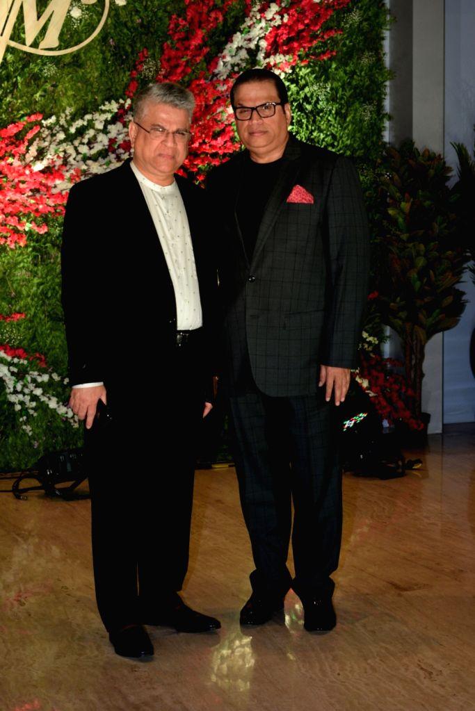 Producer Ramesh Taurani at the wedding reception of producer Jayantilal Gada's son Aksshay Gada in Mumbai, on March 31, 2019.