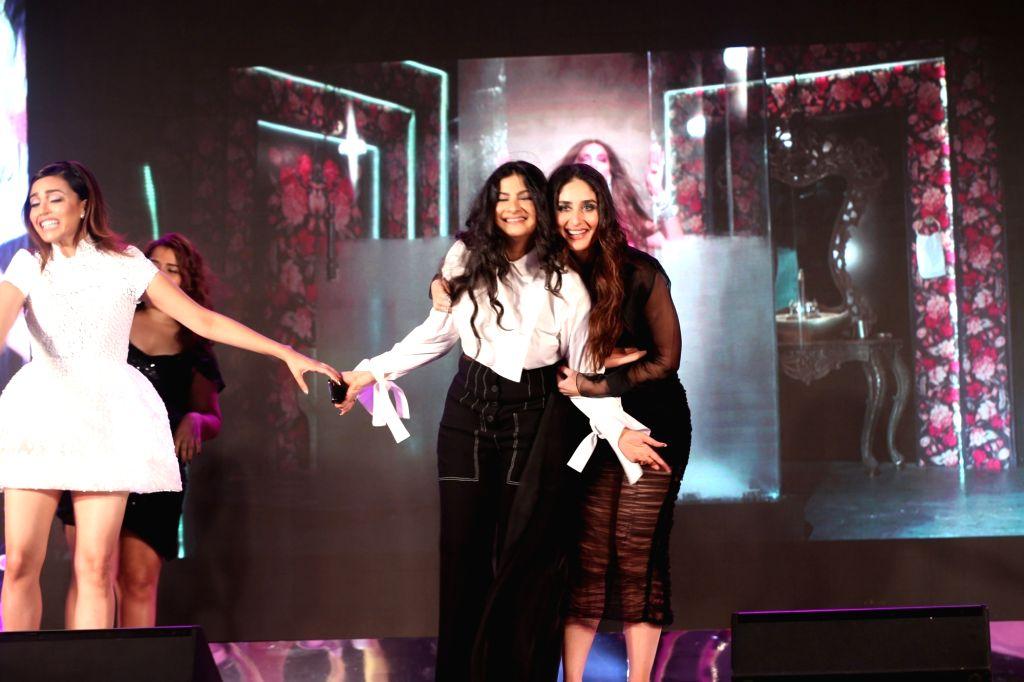 "Producer Rhea Kapoor and actress Kareena Kapoor Khan at the music launch of their upcoming film ""Veere Di Wedding"" in Mumbai on May 22, 2018. - Kareena Kapoor Khan and Rhea Kapoor"