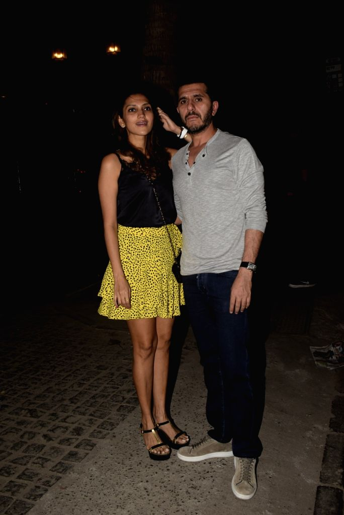 Producer Ritesh Sidhwani with his wife Dolly Sidhwani seen outside a club at Mumbai's Juhu, on Feb 16, 2019.