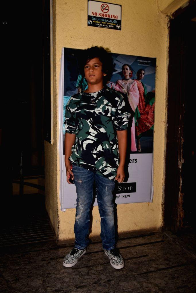 """Producer Sajid Nadiadwala's son Sufyan Nadiadwala at the screening of the upcoming film """"Kalank"""", in Mumbai on April 14, 2019."""