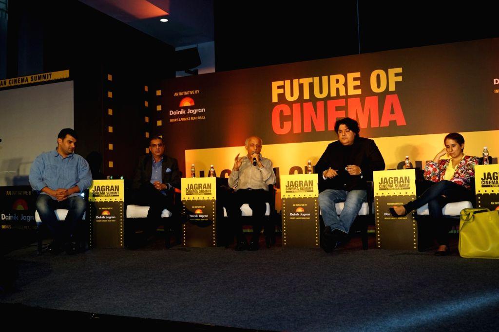 "Producers Siddharth Roy Kapur, Mukesh Bhatt and Director Sajid Khan during the ""Jagran Cinema Host Summit"" to Discuss Future of Film in Mumbai on Sept 15, 2017. - Siddharth Roy Kapur and Sajid Khan"