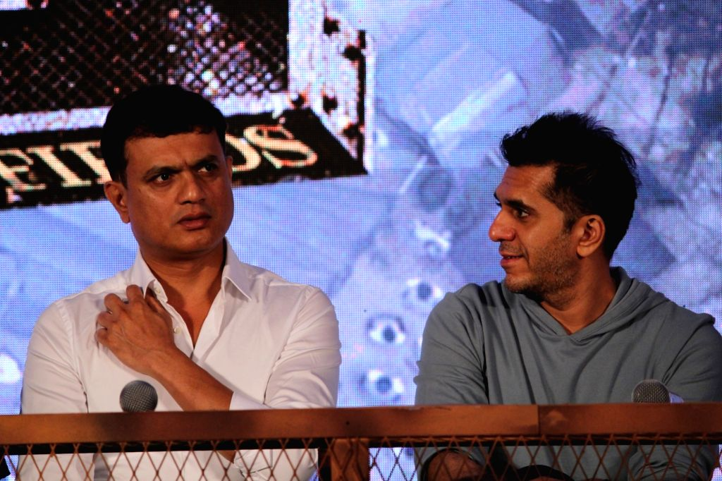 "Producers Vijay Kirgandur and Ritesh Sidhwani at the trailer launch of their upcoming film ""K.G.F"" in Mumbai, on Dec 5, 2018."