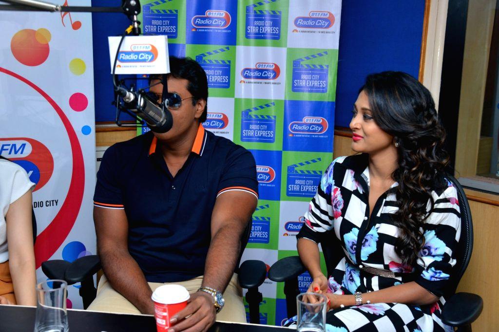 Promotion of Telugu film Eedu Gold Ehe at Radio City in Hyderabad on Oct. 6, 2016.
