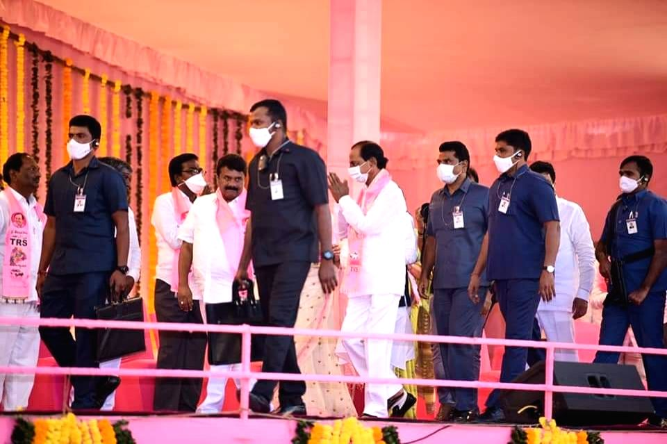 Protect peace, tranquility of Hyderabad: KCR to voters.