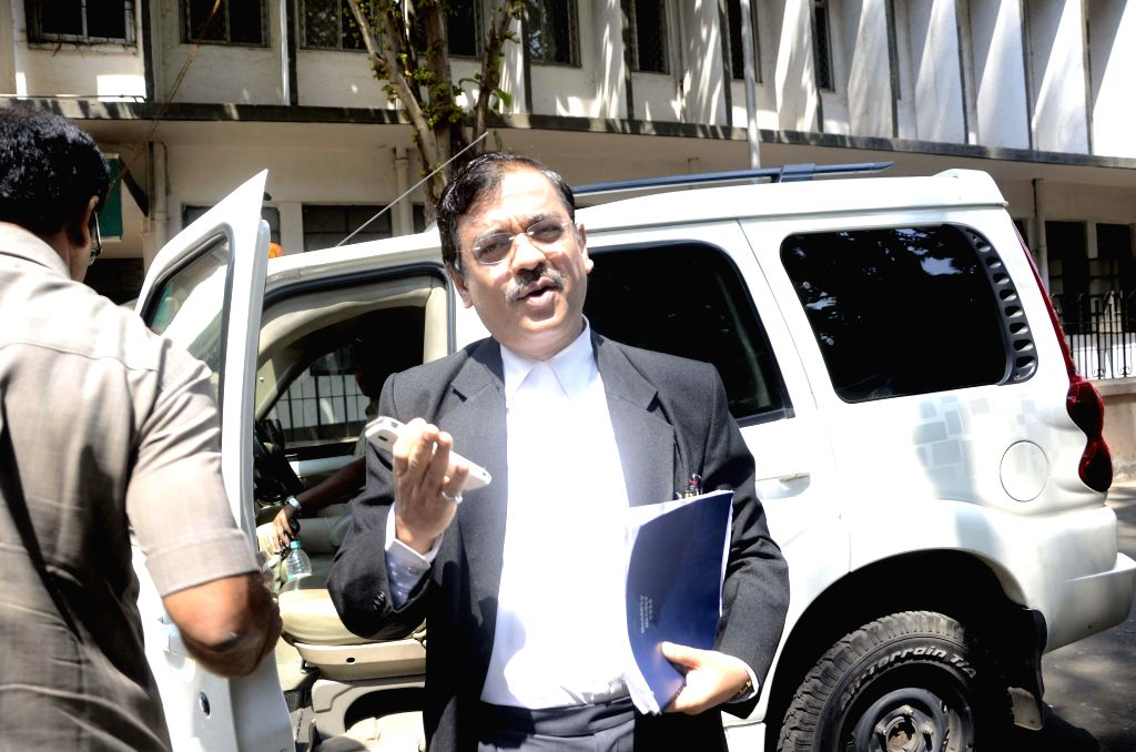 Public prosecutor Ujjwal Nikam outside the court where the two Shakti Mills gang-rape cases are being heard in Mumbai on March 28, 2014. (Photo: Sandeep Mahankal/IANS)