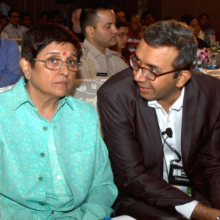 Puducherry Lt.Governor Kiran Bedi during Global Scrum Gathering 2016 in Bengaluru, on June 27, 2016. - Kiran Bedi