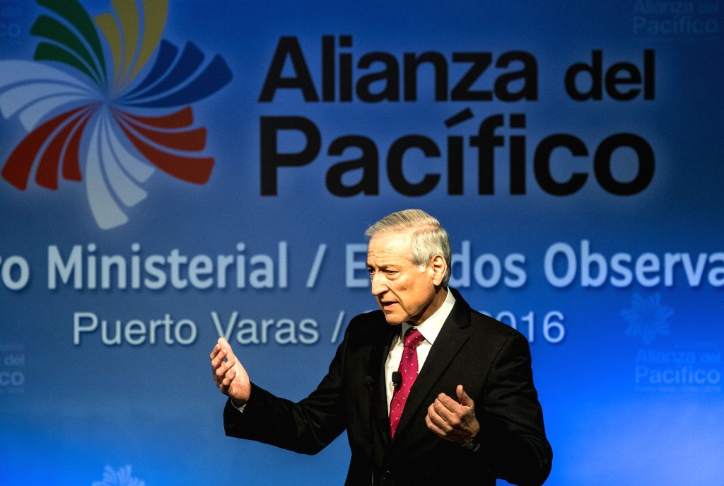 PUERTO VARAS, June 30, 2016 - Chile's Foreign Minister Heraldo Munoz addresses the opening of the first ministerial meeting of the Pacific Alliance member countries and its observer states in Puerto ... - Heraldo Munoz
