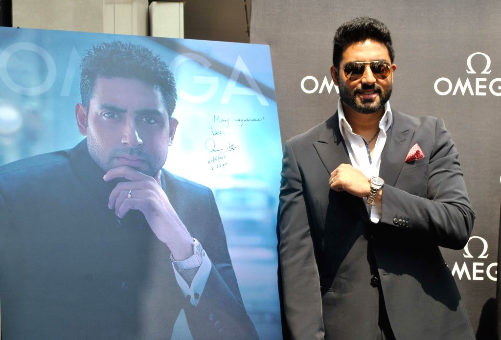 Actor Abhishek Bachchan during the inauguration of a watch showroom in Pune on Feb 25, 2015.