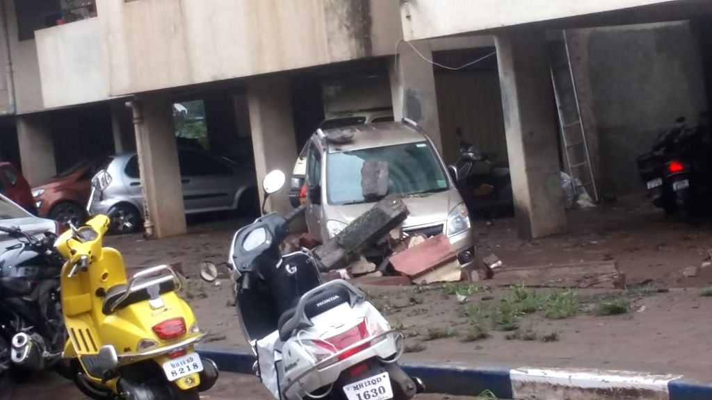 Pune: Heavy rains that lashed Pune in the past 18 hours, has left the city devastated, with at least 12 persons killed and four more missing in various rain-related incidents in Pune and Nashik, and surrounding areas on Sep 26, 2019. (Photo: IANS)