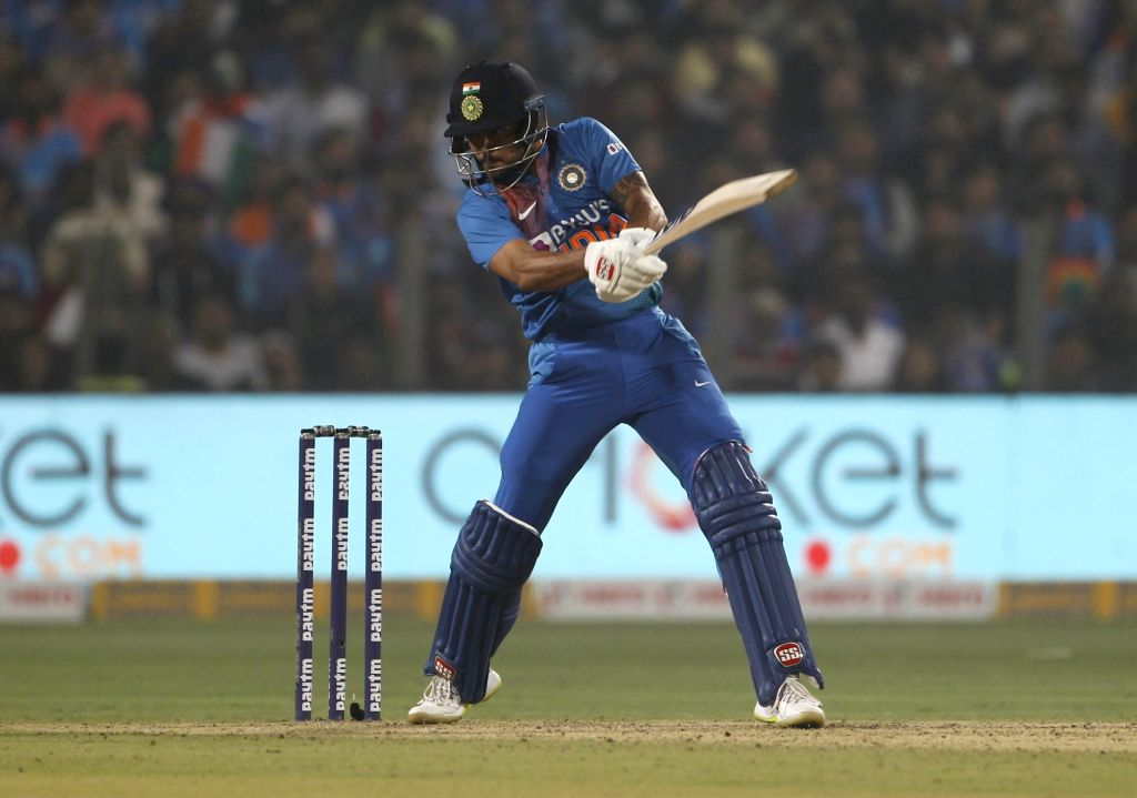 Pune: India's Manish Pandey in action during the 3rd T20I match between India and Sri Lanka at the Maharashtra Cricket Association Stadium in Pune on Jan 10, 2020. (Photo: Surjeet Yadav/IANS) - Manish Pandey and Surjeet Yadav