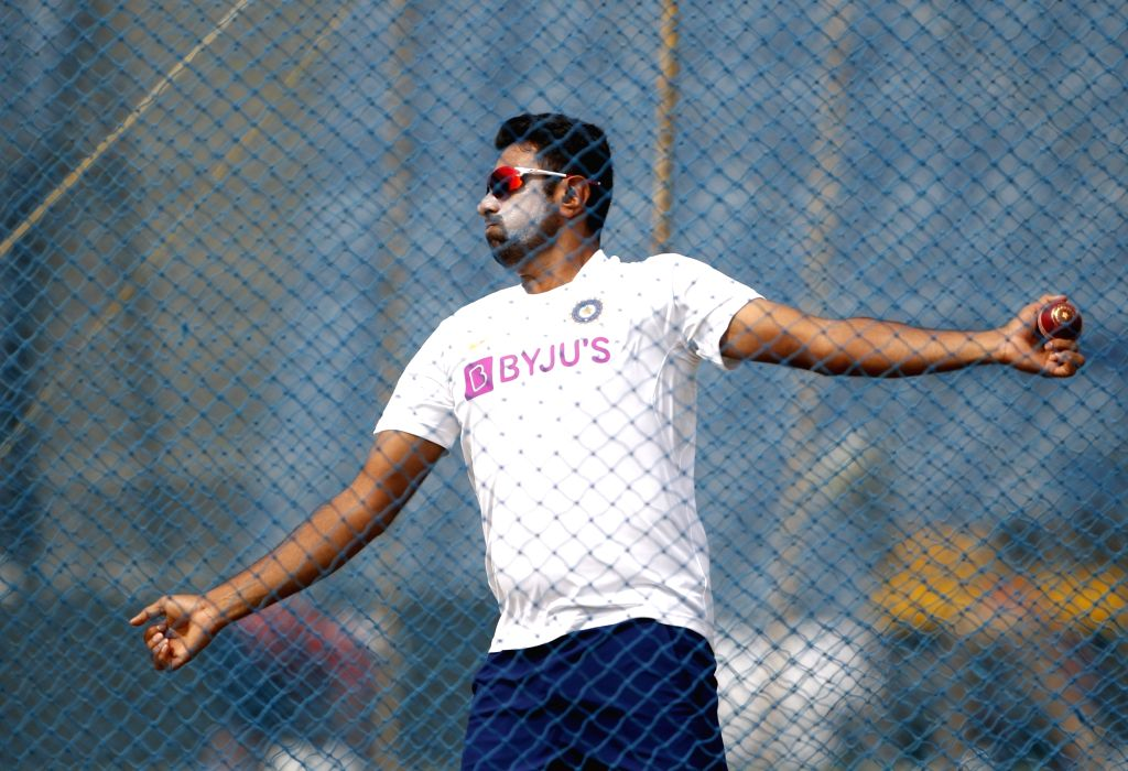 Pune: India's Ravichandran Ashwin during a practice session ahead of the 2nd Test match against South Africa, at Maharashtra Cricket Association Stadium in Pune, on Oct 9, 2019. (Photo: Surjeet Yadav /IANS) - Surjeet Yadav