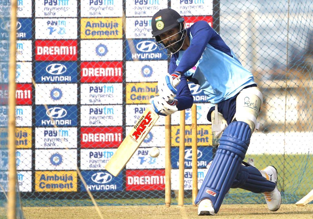 Pune: Indian skipper Virat Kohli during a practice session ahead of the 3rd T20I match against Sri Lanka at the Maharashtra Cricket Association Stadium in Pune on Jan 9, 2020. (Photo: Surjeet Yadav/IANS) - Virat Kohli and Surjeet Yadav