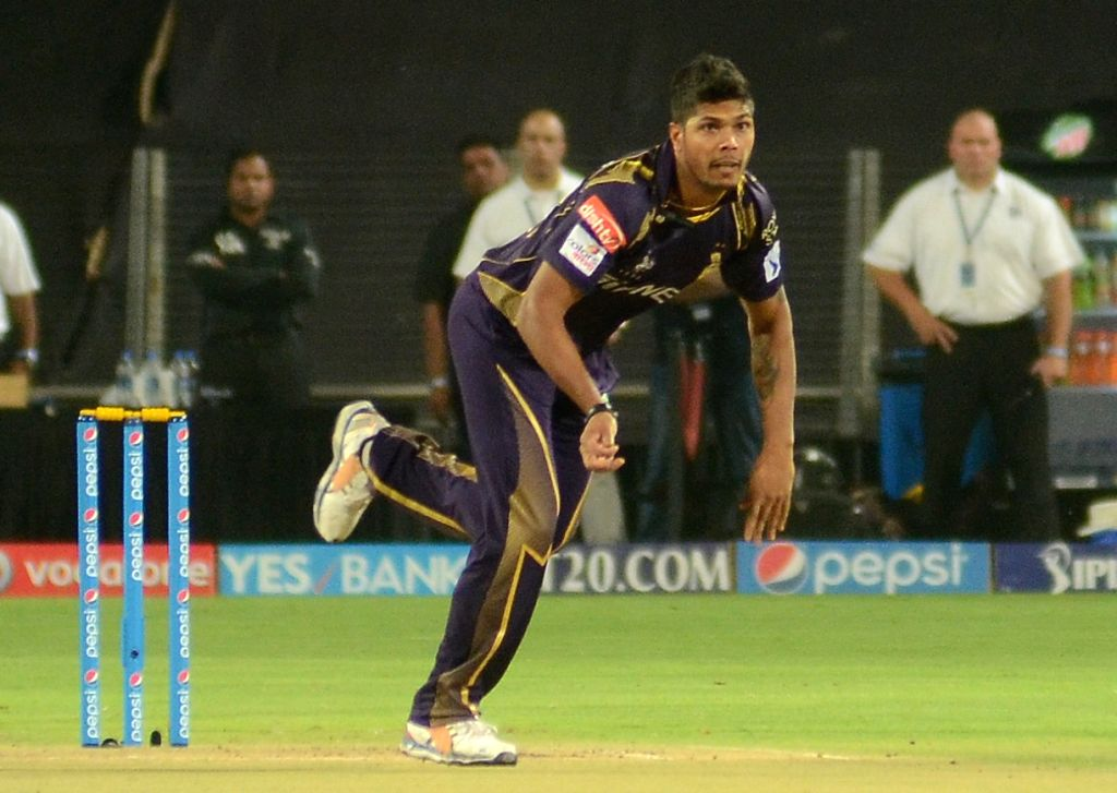 Kolkata Knight Riders player Umesh Yadav in action during an IPL-2015 match between Kolkata Knight Riders and Kings XI Punjab at Maharashtra Cricket Association Stadium, in Pune, on April 18, ... - Umesh Yadav