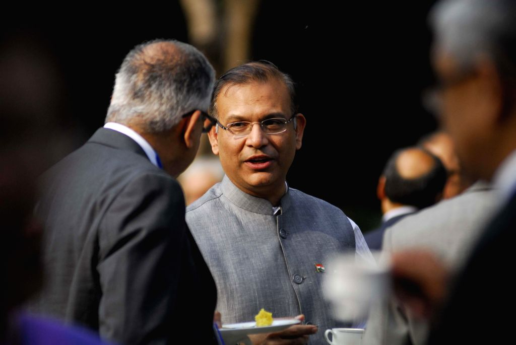 Union Minister of State for Finance Jayant Sinha and others during `Gyan Sangam` - two-day long bankers retreat organised held at National Institute of Bank Management, in Pune on Jan 2, 2015.