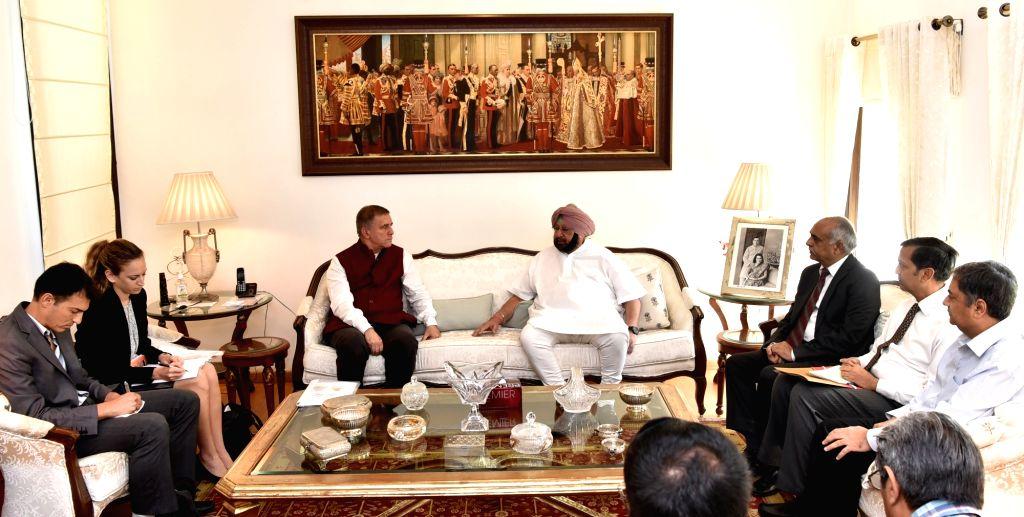 Punjab Chief Minister Amarinder Singh meets Israel Ambassador to India Daniel Carmon,in Chandigarh, on July 6, 2018. - Amarinder Singh