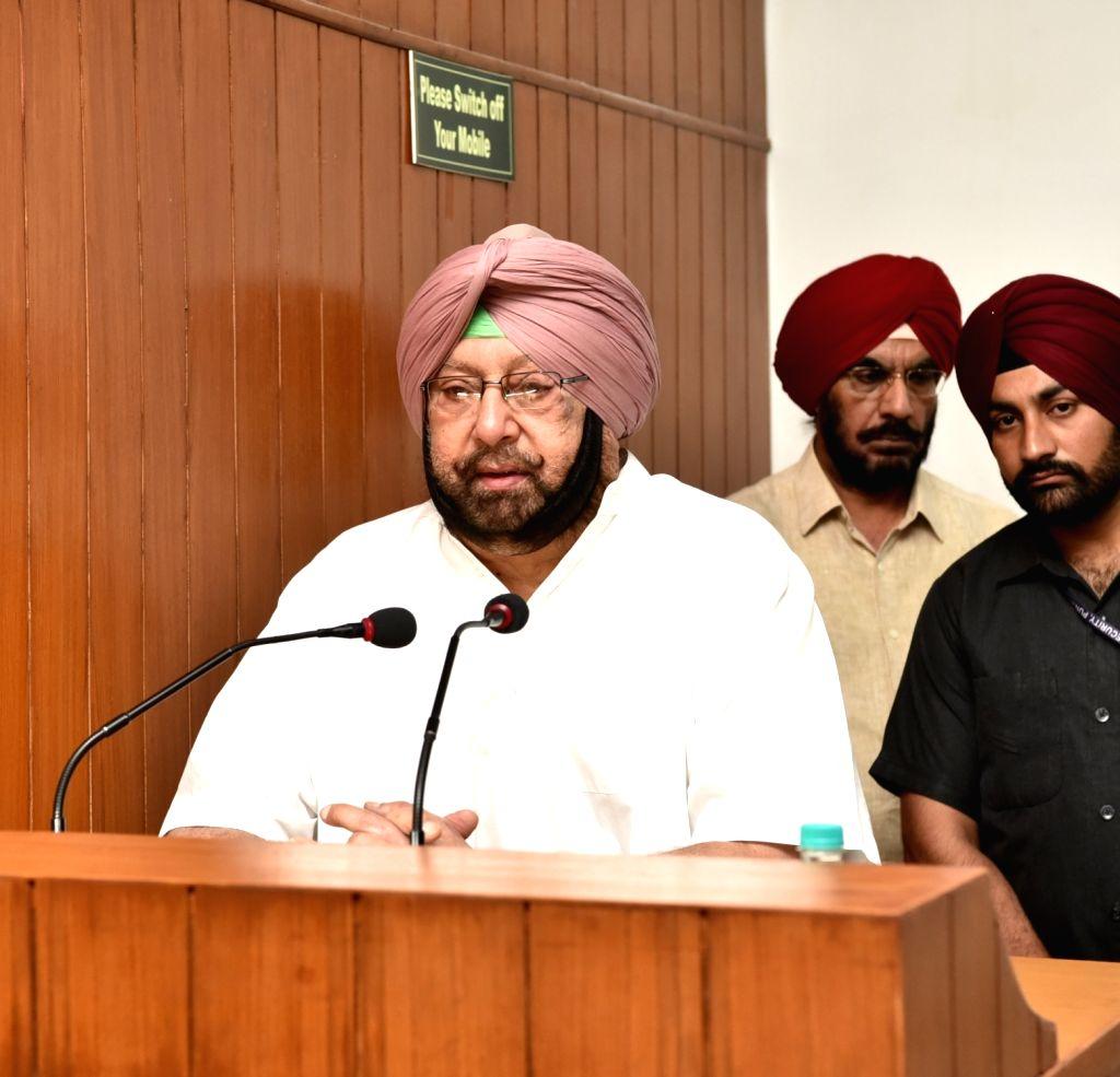 Punjab Chief Minister Capt Amarinder Singh. (Photo: IANS) - Capt Amarinder Singh