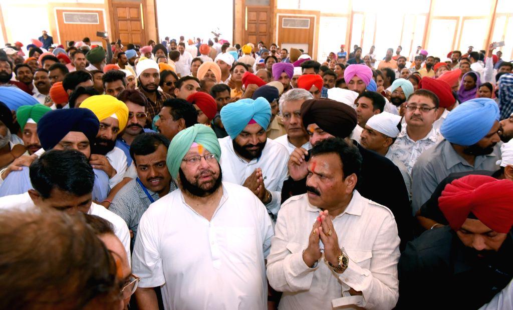 Punjab Chief Minister Captain Amarinder Singh during his visit to Bhagwan Valmiki Tirath Sthal in Amritsar on May 8, 2017. - Captain Amarinder Singh