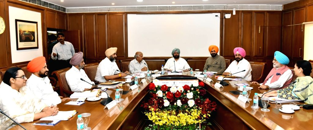 Punjab Chief Minister Captain Amarinder Singh during a cabinet meeting in Chandigarh, on May 30, 2017. - Captain Amarinder Singh
