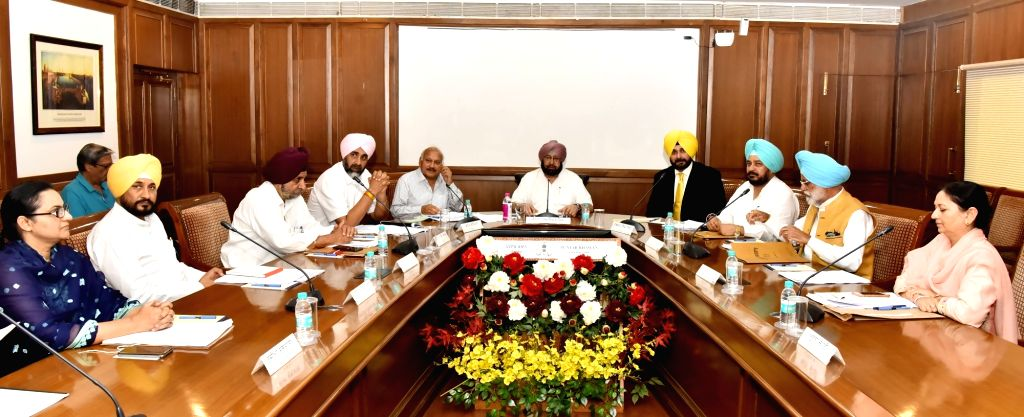 Punjab Chief Minister Captain Amarinder Singh during a cabinet meeting in Chandigarh, on July 5, 2017. - Captain Amarinder Singh