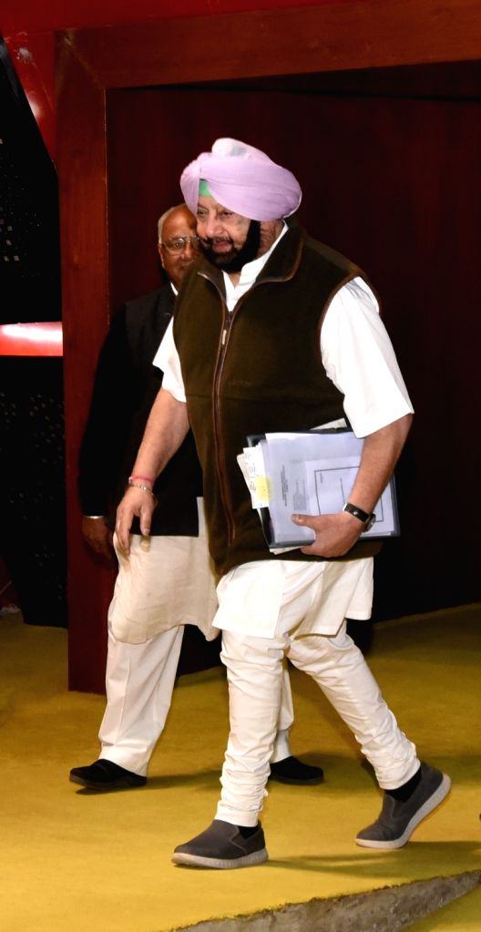 Punjab Chief Minister Captain Amarinder Singh arrives at state assembly in Chandigarh on Dec 14, 2018. - Captain Amarinder Singh
