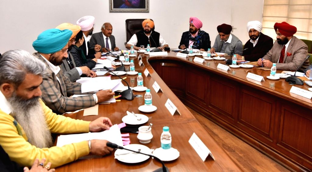 Punjab Chief Minister Captain Amarinder Singh chairs a cabinet meeting in Chandigarh, on Feb 8, 2019. - Captain Amarinder Singh