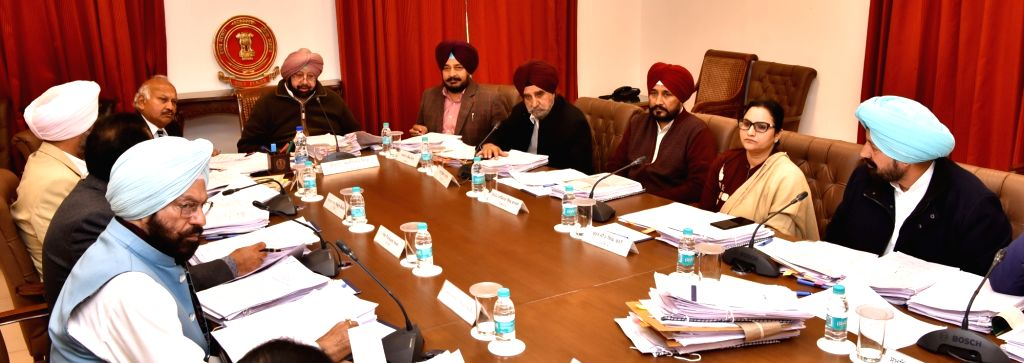 Punjab Chief Minister Captain Amarinder Singh chairs a cabinet meeting in Chandigarh on March 2, 2019. - Captain Amarinder Singh