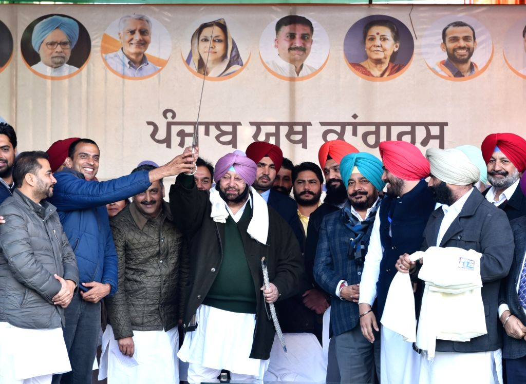 Punjab Chief Minister Captain Amarinder Singh the installation ceremony of Congress youth wing'ss newly elected office-bearers at the Congress Bhavan in Chandigarh on Jan 9, 2020. - Captain Amarinder Singh